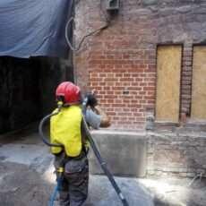 Renowacja cegły klinkierowej